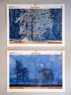 Gennaio | Foresta di Tarvisio (Ud); Febbraio | Nevicata mattutina sulla pianura friulana nei pressi di Basagliapenta (Ud)