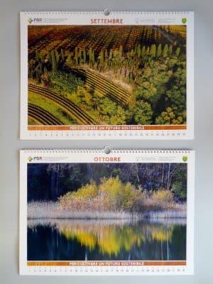 Settembre | Vigneti in area carsica (Ts);  Ottobre | Lago Minisini - Ospedaletto (Ud)