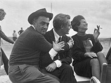 Fellini,-Marcello-Mastroianni,-Sophia-Loren_-Set-8%_-Gideon-Bachmann-_-copy-Cinemazero